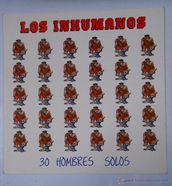 LOS INHUMANOS - 30 HOMBRES SOLOS . LP . TDKDA8 (Música - Discos - LP Vinilo - Grupos Españoles de los 70 y 80)