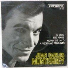 Discos de vinilo: EP JUAN CARLOS MONTERREY TE VERE EXC++ / CARPETA EXC-. Lote 48465090