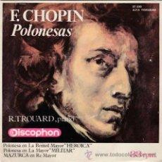 Discos de vinilo: SINGLE - F. CHOPIN - POLONESAS - RAYMOND TROUARD AL PIANO - ED. DISCOPHON - AÑO 1964 -. Lote 48465689