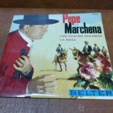 Discos de vinilo: DISCO: PEPE MARCHENA - LOS 4 MULEROS/LA ROSA AÑO 1963. Lote 48467748