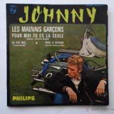 Discos de vinilo: JOHNNY - LES MAUVAIS GARCONS. Lote 48469982
