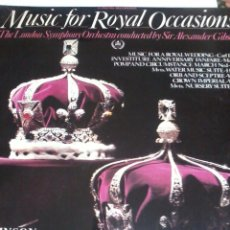 Discos de vinilo: MUSIC FOR ROYAL OCCASIONS. C5V. Lote 48470010