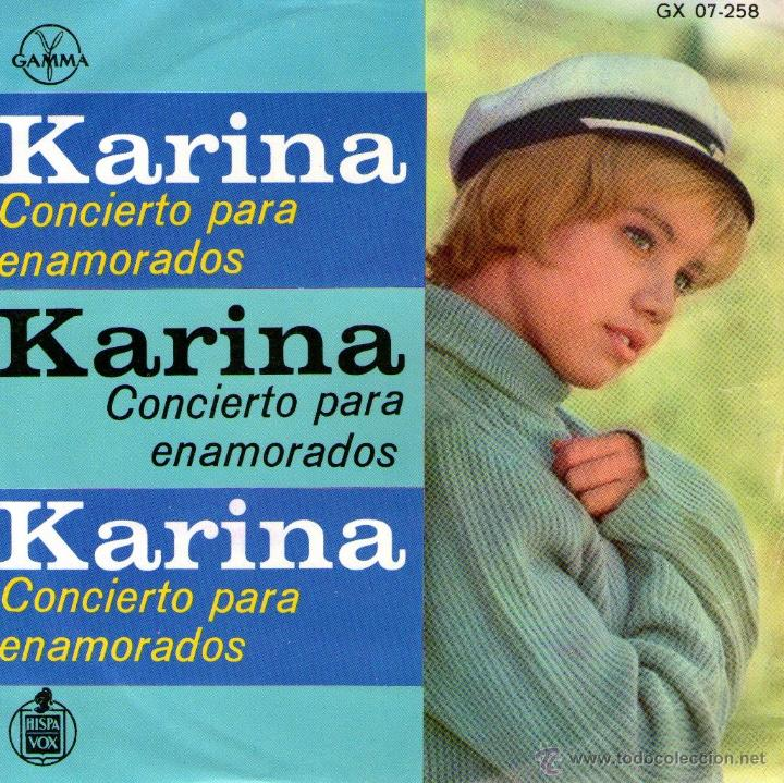KARINA - EP VINILO 7'' - EDITADO EN MÉXICO / MÉJICO - CONCIERTO PARA ENAMORADOS + 3 - GAMMA (Música - Discos de Vinilo - EPs - Solistas Españoles de los 50 y 60)