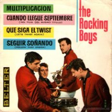 Discos de vinilo: THE ROCKING BOYS - EP SINGLE VINILO 7'' - EDITADO EN ESPAÑA - MULTIPLICACION + 3 -BELTER 1962. Lote 48470953