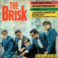 Discos de vinilo: THE BRISK - EP SINGLE VINILO 7'' - EDITADO EN ESPAÑA - WITH BEATLES COVER VERSION + 3 - BELTER 1964. Lote 48470986