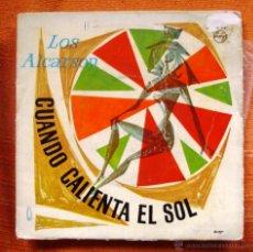 Discos de vinilo: VINILO SINGLE LOS ALCARSON 1964 CUANDO CALIENTA EL SOL. Lote 48474395
