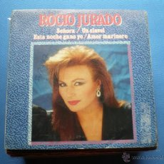 Discos de vinilo: ROCIO JURADO SEÑORA + UN CLAVEL + ESTA NOCHE GONO YO+1 EP 1987 EMI PROMO PDELUXE. Lote 48474594