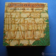 Discos de vinilo: UN PINGÜINO EN EL ASCENSOR ARQUEOLOGIA EN MI JARDIN SINGLE 1989 PROMO PDELUXE. Lote 48474938