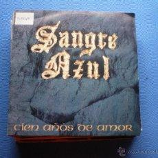 Discos de vinilo: SANGRE AZUL CIEN AÑOS DE AMOR + SOLO ROCK ROLL SINGLE 1989 HIPAVOX PDELUXE. Lote 48475404