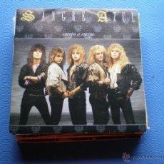 Discos de vinilo: SANGRE AZUL CUERPO A CUERPO + SIGUELO SINGLE HISPAVOX 1988 PDELUXE. Lote 48475553