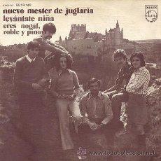 Dischi in vinile: NUEVO MESTER DE JUGLARIA - LEVÁNTATE NIÑA / ERES NOGAL, ROBLE Y PINO - SINGLE (1972) + CD DE REGALO.. Lote 48476750