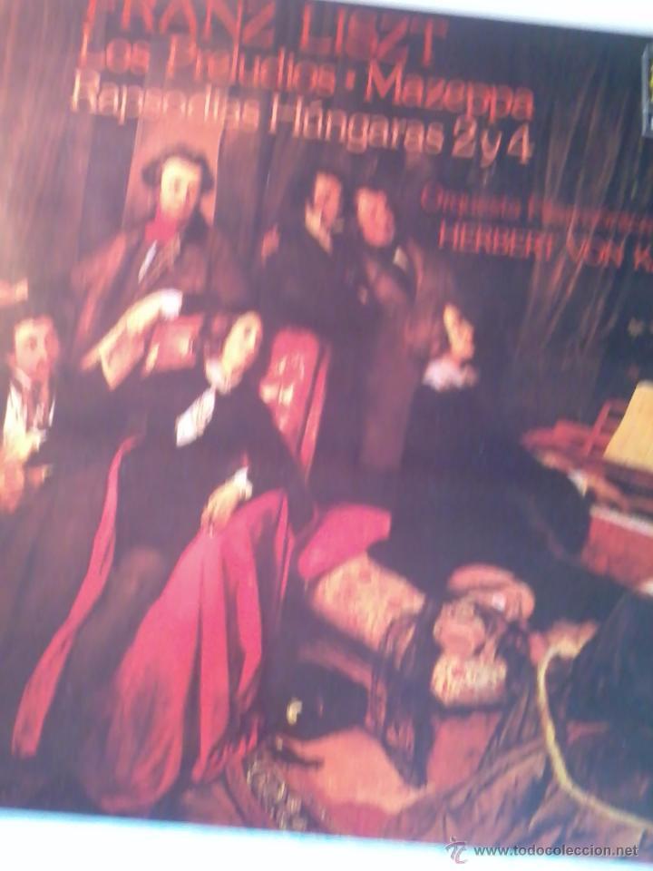 FRANZ LISZT. LOS PRELUDIOS. MAZEPPA. RAPSODIAS H´´UNGARAS 2 Y R. ORQUESTA FILAMÓNICA DE BERLIN. C5V (Música - Discos - LP Vinilo - Clásica, Ópera, Zarzuela y Marchas)