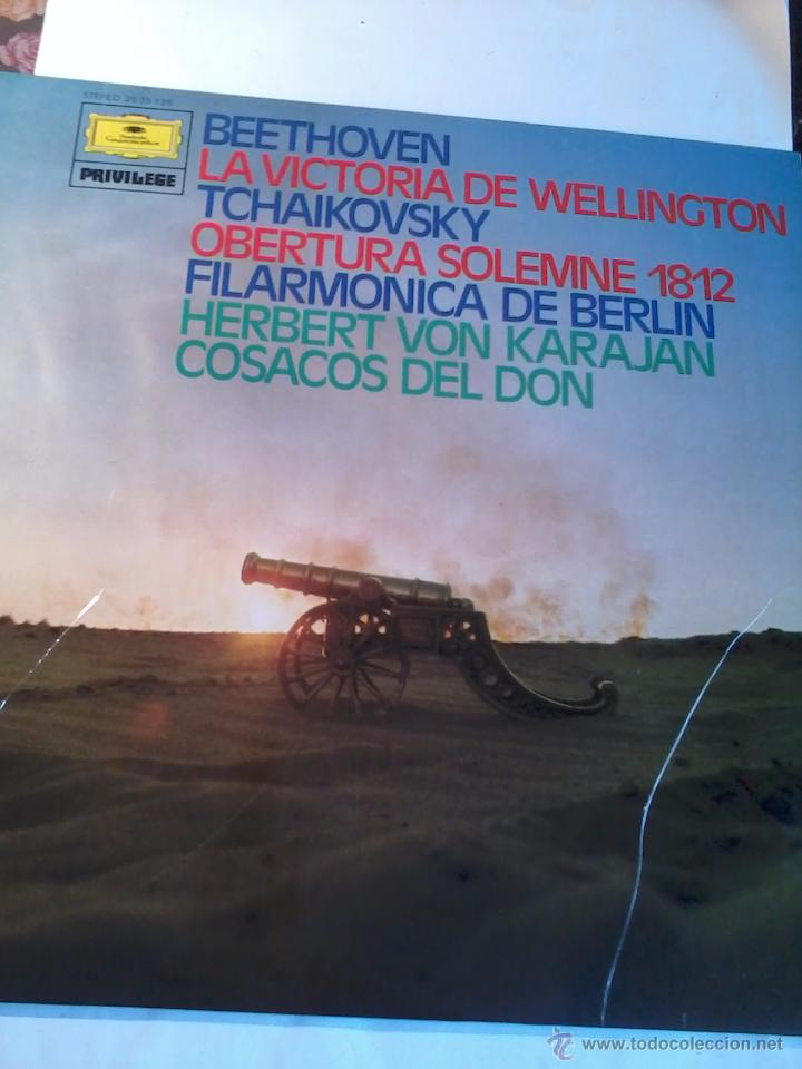BEETHOVEN. LA VICTORIA DE WELLINGTON TCHAIKIVSKY .OBERTURA SOLEMNE 1812. C5V (Música - Discos - LP Vinilo - Clásica, Ópera, Zarzuela y Marchas)