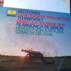 Discos de vinilo: BEETHOVEN. LA VICTORIA DE WELLINGTON TCHAIKIVSKY .OBERTURA SOLEMNE 1812. C5V. Lote 48481953