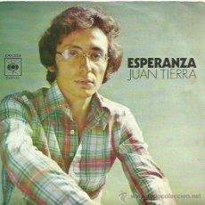 Discos de vinilo: JUAN TIERRA SINGLE SELLO CBS CARA B LA PLAZA. Lote 48482365