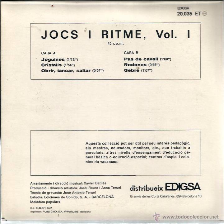 Discos de vinilo: EP JOCS I RITME 1 ( XAVIER BATLLES ) - Foto 2 - 48482394
