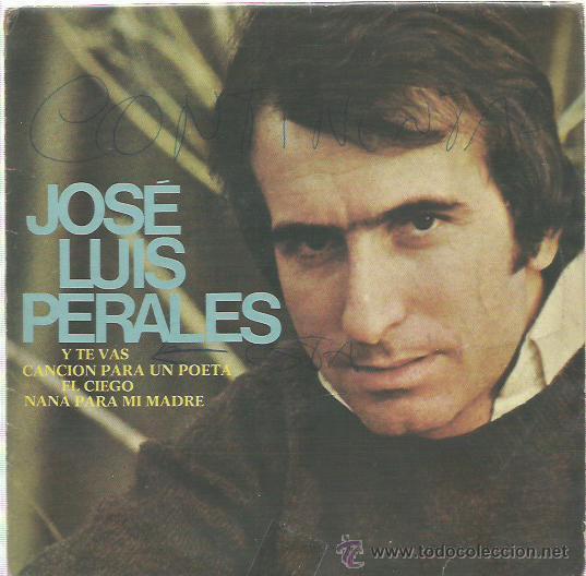 JOSE LUIS PERALES EP SELLO HISPA VOX (Música - Discos de Vinilo - EPs - Solistas Españoles de los 70 a la actualidad)