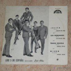 Discos de vinilo: LOS 5 DE ESPAÑA CON LUIS ALBA -JULITA+3- BERTA-. Lote 48483778