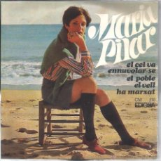 Discos de vinilo: EP MARIA PILAR : EL CEL VA ENNUVOLAR-SE ( ARREGLOS : LLEÓ BORRELL ) . Lote 48485563