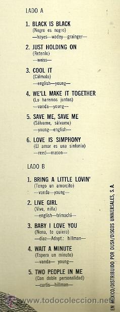Discos de vinilo: LOS BRAVOS LP SELLO POLYDOR AÑO 1970 EDITADO EN MEXICO.ILUSTRISIMOS BRAVOS - Foto 2 - 48489131