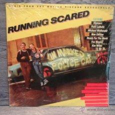 Discos de vinilo: B.S.O. !! RUNNING SCARED / LP / MCA RECORDS - USA - 1986. P R E C I N T A D O *****. Lote 48500903