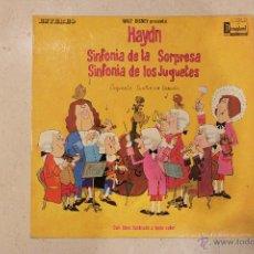 Discos de vinilo: HAYDN - SINFONIA DE LA SORPRESA - SINFONIA DE LOS JUGUETES. Lote 48504594