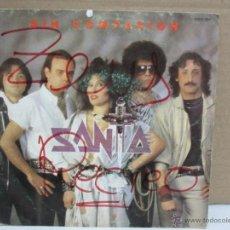 Discos de vinilo: SANTA - SIN COMPASION - SINGLE - CHAPA DISCOS - 1985 - PROMO - VG+/VG. Lote 48511056