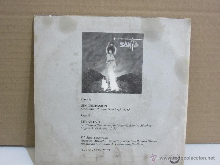 Discos de vinilo: Santa - Sin Compasion - Single - Chapa Discos - 1985 - PROMO - VG+/VG - Foto 2 - 48511056