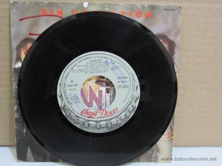 Discos de vinilo: Santa - Sin Compasion - Single - Chapa Discos - 1985 - PROMO - VG+/VG - Foto 3 - 48511056