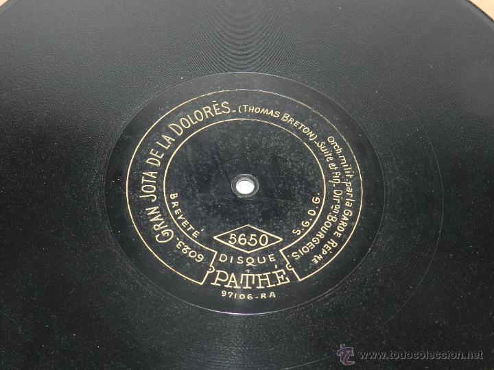 DISCO DE PIZARRA GRAN JOTA DE LA DOLORES, ED. DISCO PATHE, N. 5650, THOMAS BRETON, BUEN ESTADO DE CO (Música - Discos - Singles Vinilo - Clásica, Ópera, Zarzuela y Marchas)