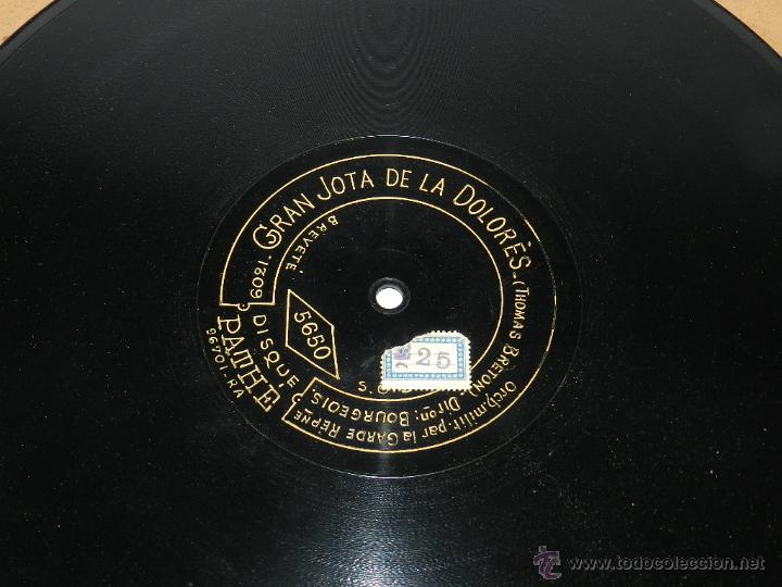 Discos de vinilo: DISCO DE PIZARRA GRAN JOTA DE LA DOLORES, ED. DISCO PATHE, N. 5650, THOMAS BRETON, BUEN ESTADO DE CO - Foto 3 - 48511278