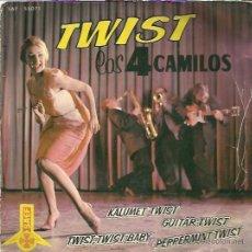Discos de vinilo: LOS 4 CAMILOS EP SAEF 1962 KALUMET TWIST/ GUITAR TWIST/ TWIST TWIST BABY/ PEPPERMINT TWIST. Lote 48512938