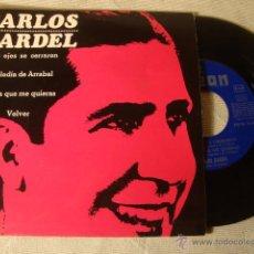 Discos de vinilo: ANTIGUO DISCO SINGLE ORIGINAL EP AÑOS 50/60 CARLOS GARDEL. Lote 48519422