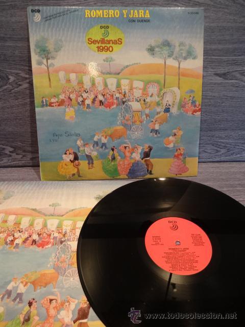 ROMERO Y JARA. CON DUENDE. SEVILLANAS 1990. LP / DCD - 1990. CALIDAD LUJO. ****/**** (Música - Discos - LP Vinilo - Flamenco, Canción española y Cuplé)