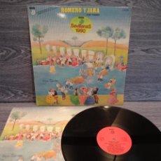 Discos de vinilo: ROMERO Y JARA. CON DUENDE. SEVILLANAS 1990. LP / DCD - 1990. DISCO DE LUJO ***/****. Lote 48522495