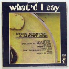 Discos de vinilo: STEVE CROPPER & ALBERT KING - 'WHAT'D I SAY' (LP VINILO. ORIGINAL 1969. MUY RARO). Lote 48534191