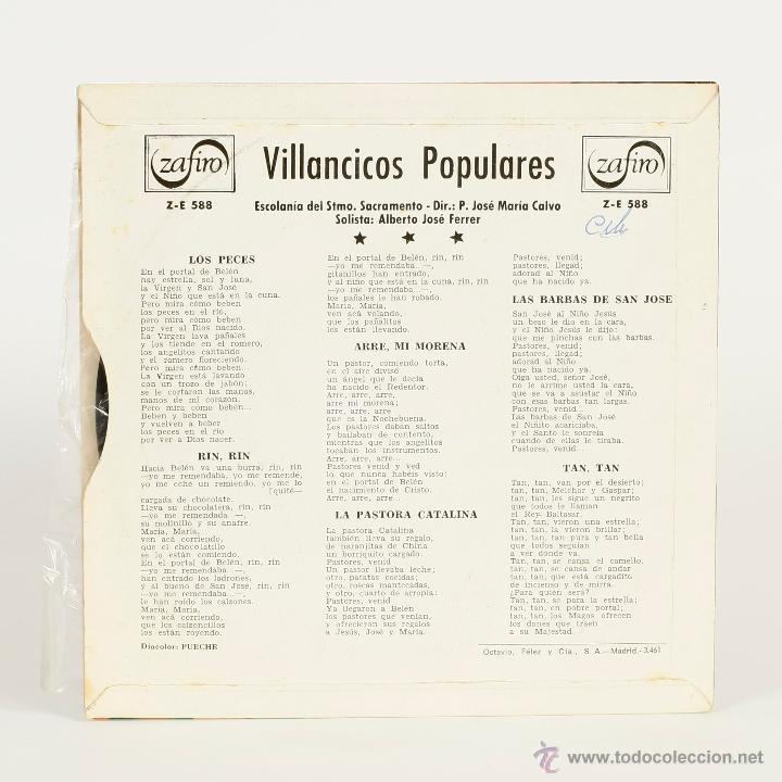 Discos de vinilo: NAVIDAD - VILLANCICOS POPULARES - 1964 - Foto 2 - 48550842