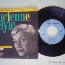 Discos de vinilo: LUCIENNE DELYLE. I LOVE PARIS.SUR MA VIE.PRENEZ MON COEUR ET MES ROSES.C´EST GIGOLO. TRIANON.FRANCIA. Lote 48556282