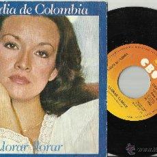 Discos de vinilo: CLAUDIA DE COLOMBIA SINGLE LLORAR,LLORAR.ESPAÑA 1977 . Lote 48562148