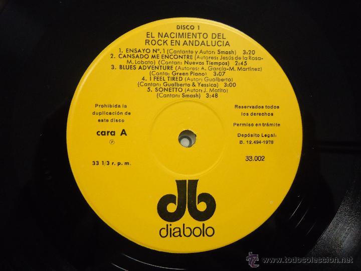 Discos de vinilo: EL NACIMIENTO DEL ROCK EN ANDALUCIA (DIABOLO-1978) SMASH, GUALBERTO, GONG,...- PSYCH PROG 2LP'S - Foto 2 - 39204486