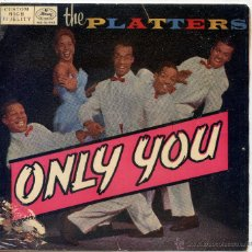 Discos de vinil: THE PLATTERS / ONLY YOU / WHY SHOULD I? / REMEMBER WHEN / HEAVEN ON EARRTH (EP 1959). Lote 48575166