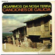 Discos de vinilo: CORAL DE RUADA DE ORENSE - TRIO DE GAITAS / PANDEIRADA DE ENTRIMO / FOLIADA DE AMOEIRO + 3 - EP 1959. Lote 48585103