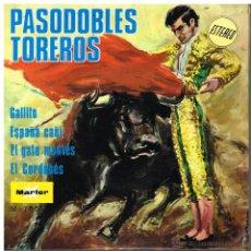 Discos de vinilo: BANDA TAURINA - PASODOBLES TOREROS - GALLITO / ESPAÑA CAÑÍ / EL GATO MONTÉS... - EP 1968 - PROMO. Lote 48586753