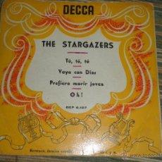 Discos de vinilo: THE STARGAZERS - TU, TU, TU - EP - ORIGINAL ESPAÑOL - DECCA RECORDS DE LOS AÑOS 50 -. Lote 48587884