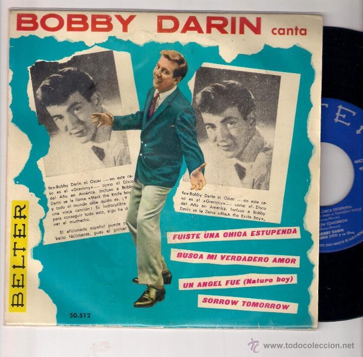 BOBBY DARIN: LOOK FOR MY TRUE LOVE + NATURE BOY + SORROW TOMORROW +1 (Música - Discos de Vinilo - EPs - Pop - Rock Internacional de los 50 y 60)
