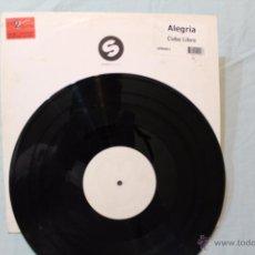 Discos de vinilo: ALEGRIA CUBA LIBRE MAXI SINGLE SPR001 WHITE LABEL SPINNIN RECORDS MADE IN NETHERLANDS. Lote 48600609