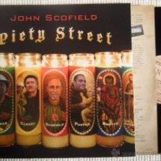 Discos de vinilo: JOHN SCOFIELD - '' PIETY STREET '' 2 LP + INNER EU. Lote 48600829