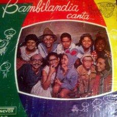 Discos de vinilo: 'BAMBILANDIA CANTA'. CANCIÓN INFANTIL LATINA. EDITADO EN VENEZUELA EN 1959. RAREZA.. Lote 48608200