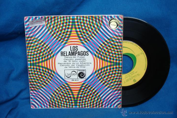 - LOS RELAMPAGOS - DANZA DEL FUEGO + 3 - ZAFIRO 1968 (Música - Discos de Vinilo - EPs - Grupos Españoles 50 y 60)