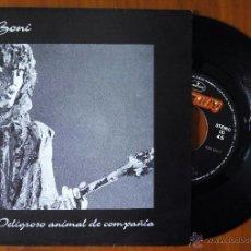 Disques de vinyle: BONI, PELIGROSO ANIMAL DE COMPAÑIA (POLYGRAM 1992) SINGLE PROMOCIONAL - BARRICADA. Lote 48619872